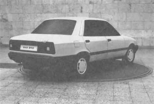 1985 год. Полноразмерный аэродинамический деревянный макет нулевой серии 2110